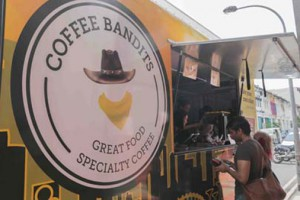 What's a festival without a food truck? Coffee Bandits kept our festival goers fed and happy. Photo: Lit Up 2014